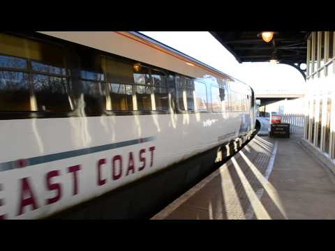 East Coast Class 43 HST Departs Dundee Scotland