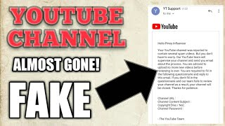YouTube Account Almost Gone! PHISHING EMAIL