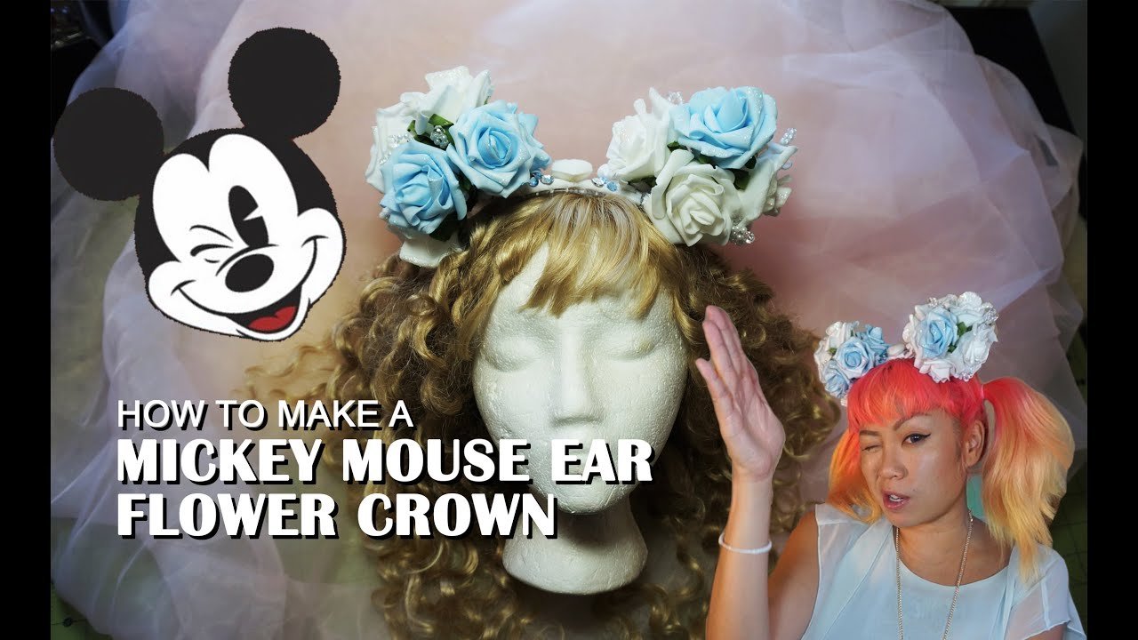 How to make a mickey mouse ear flower crown youtube how to make a mickey mouse ear flower crown izmirmasajfo Gallery