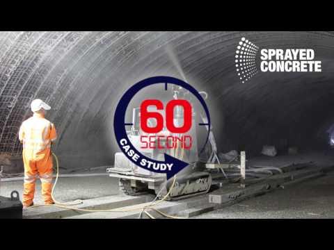 60 second case study - Sprayed Concrete - Liverpool Central Station