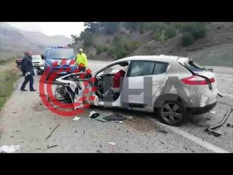 Otomobil karşı şeritteki kamyonla çarpıştı 1 ölü