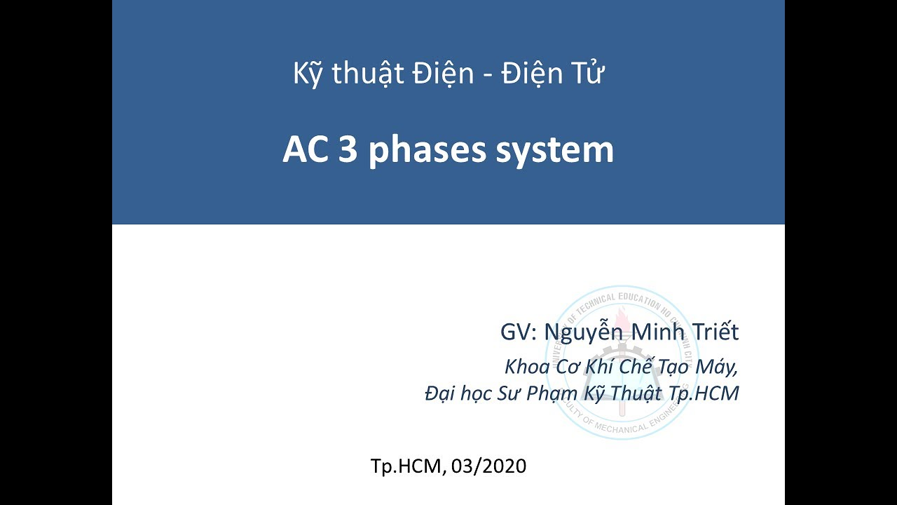 [EEEN230129] – Video 13 – AC 3 phases systems