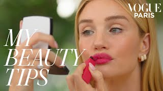 Rosie Huntington-Whiteley's perfect bold lip | My Beauty Tips | Vogue Paris