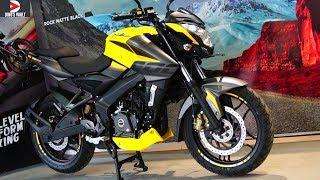 2019 Bajaj Pulsar 200 NS ABS Yellow What's New Walkaround Cinematic #DinosVlogs