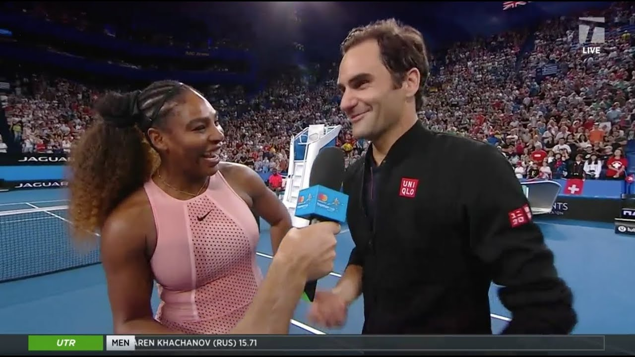 Tennis Channel Live Roger Federer Serena Williams Thrill Crowd At