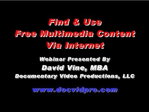 Find & Use Free Multimedia Content