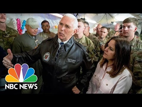 Pence Makes Surprise Visit To U.S. Troops In Iraq | NBC News