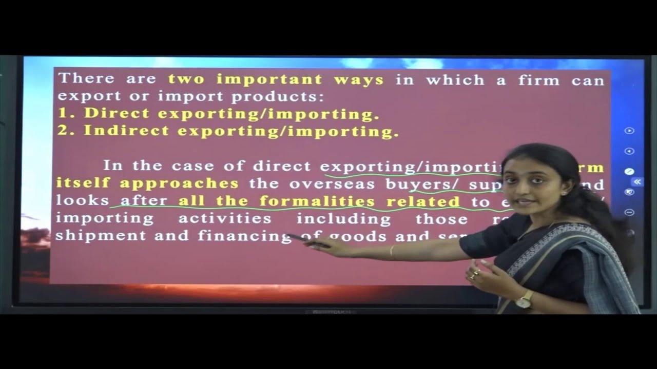 I PUC | BUSINESS STUDIES  | International Business - 05