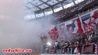 Локо - Спартак 0:2, Фаер шоу фанатов Спартака