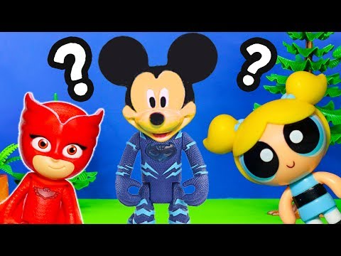Mickey Mouse Borrows Catboy's Suit And Helps PJ Masks