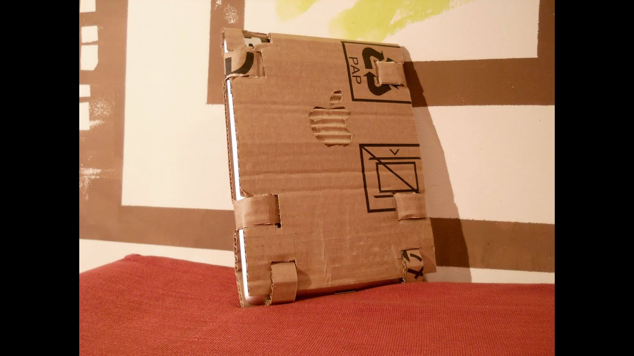 How To Make A Book Holder Out Of Cardboard : Diy how to create ipad cases with cardboard box youtube
