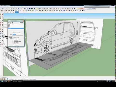 Sketchup Car Tutorial Part 1/3 (Blueprints) - YouTube
