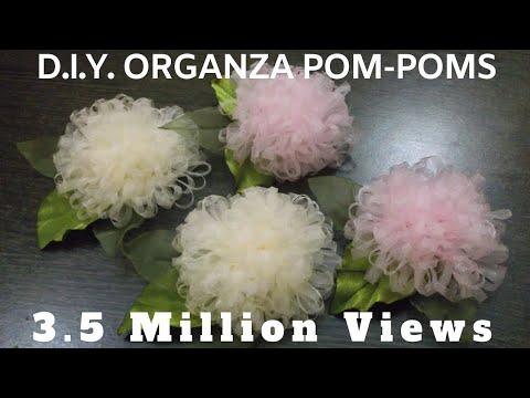 D.I.Y. Organza Pom-Poms - Tutorial | MyInDulzens