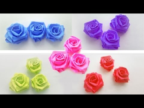 How to make SMALL PAPER ROSES with paper strips - Paper Craft - EP 639