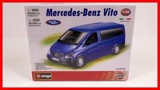 Toy Cars for kids Model Car Mercedes Benz Vito! Bburago Italian Toy Car Construction