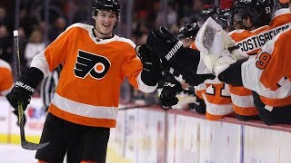 Hear from Travis Sanheim on his first NHL goal after the Flyers 2-1 win vs. Buffalo