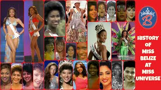 History of Miss Belize at Miss Universe.