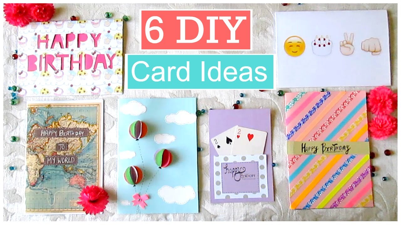 Diy 6 easy greeting card ideas youtube m4hsunfo
