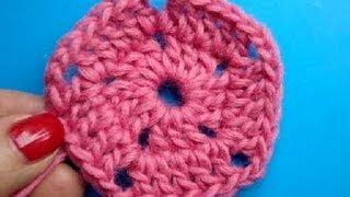 Вязание крючком - Урок 220 - Пятиугольник crochet pentagon motif