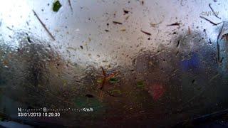 Dashcam caught in a tornado || ViralHog