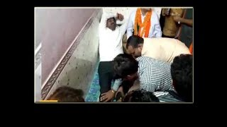 Watch: 'Tired' UP minister gets foot massage from party workers