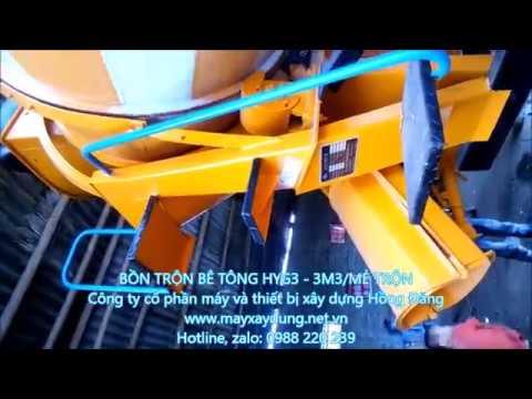 chạy thử bồn trộn tại thái nguyên, bồn trộn bê tông, lắp đặt bồn trộn bê tông 3 khối, 0988220239 - YouTube