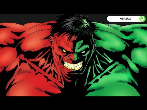 Who's stronger Red Hulk or Green Hulk Hindi - PJ Explained