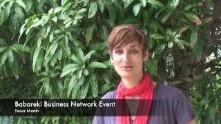 Babareki Business netwroking events testimonial - Tessa Martin Mount Warning Spring Water