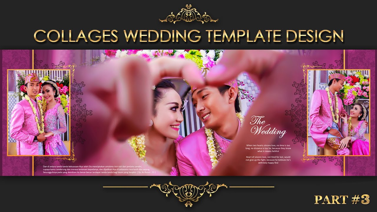 Elegant inspiration collages album wedding photoshop part 3 youtube maxwellsz