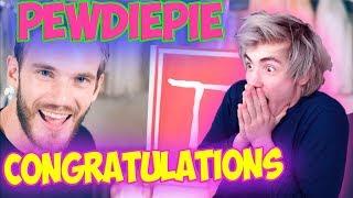Congratulations PewDiePie Реакция   pewdiepie congratulations reaction   Реакция на пьюдипая