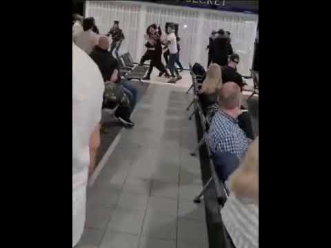 This 17-Person Luton Airport Brawl Is One For The Ages