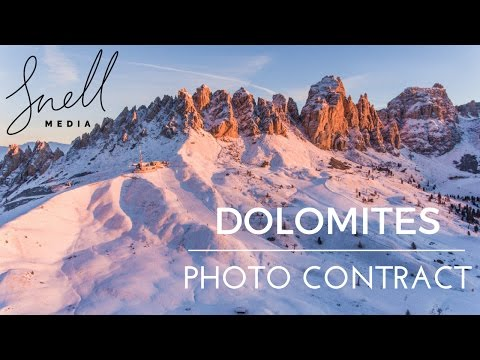 Travel Photography Assignment Italian Dolomites Winter BTS