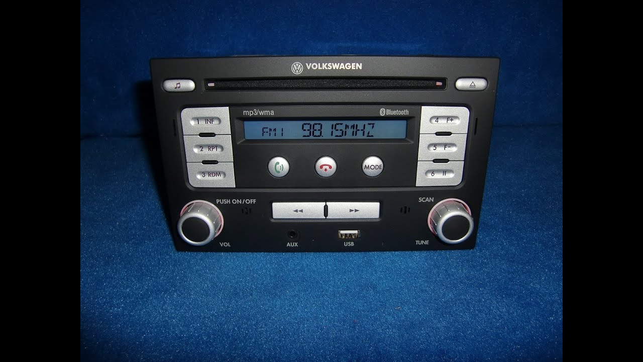 vw rmt 100 mp3 wma usb radio autoradio carradio car 6q0051228. Black Bedroom Furniture Sets. Home Design Ideas