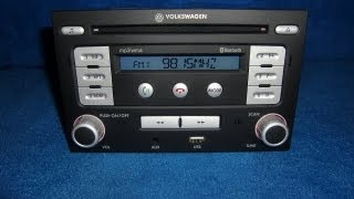 VW RMT 100 MP3 WMA USB / Radio Autoradio carradio car 6Q0051228 / http://www.schwab-onlineshop.de