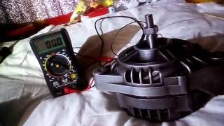 расположение магнитов, тестирование залипания генератора