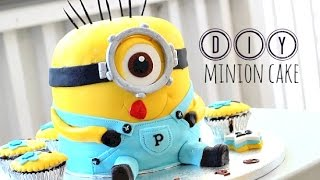 Diy: Minion Cake - How To Fondant! Easy! + Reaction To Surprise Cake & Party !!