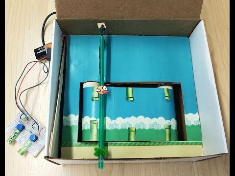 Flappy Bird in a Box (IRL)