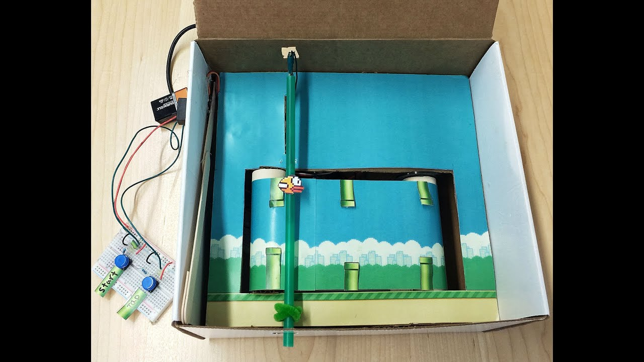 Flappy Bird In A Box IRL YouTube - Flappy bird in real life