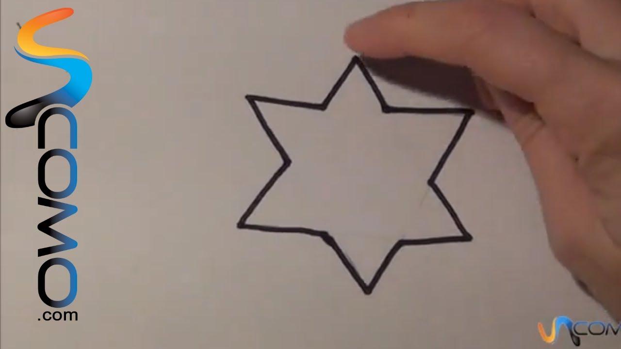 Dibujar Una Estrella Facil De 5 Puntas Youtube