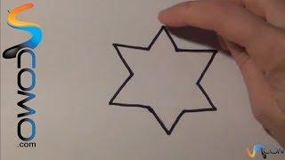 Dibujar una estrella fácil de 5 puntas