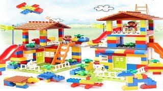 DIY Colorful City House - Building Blocks Castle Educational Toy For Children