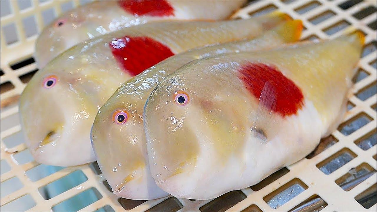 Japanese Street Food - JAPANESE FLAG FISH Okinawa Seafood Japan