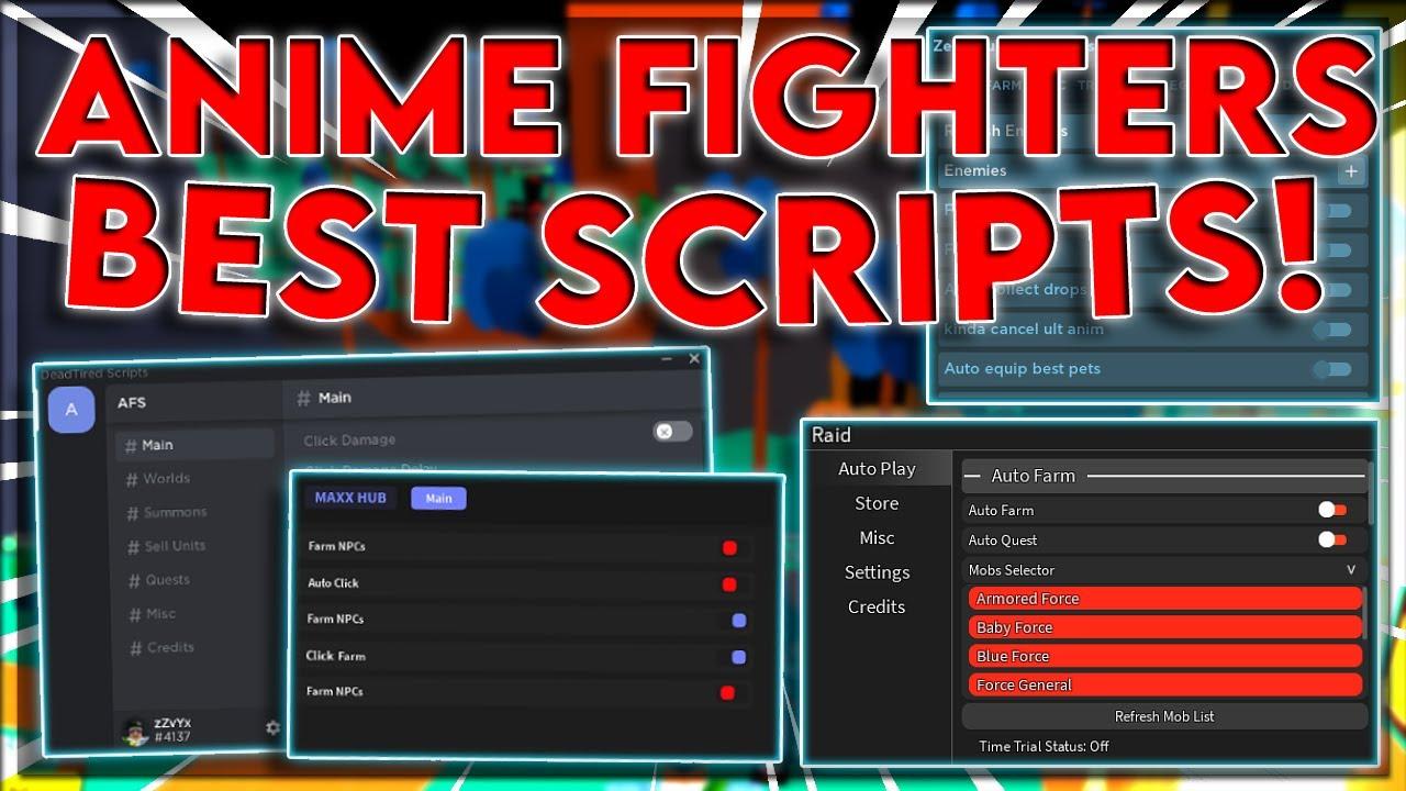 [NEW] Anime Fighters Script Hack GUIs | Auto Farm | Kill All Mobs | Infinite Yen | *PASTEBIN 2021*