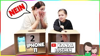 IPHONE 11 oder YOUTUBE KANAL LÖSCHEN 😱What's in the Box Challenge 📦 Alles Ava
