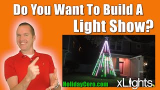 Holiday Light Shows 101: LEDs, Controllers, Props, and Sequencing for BEGINNERS. 5 Hour MegaTree!