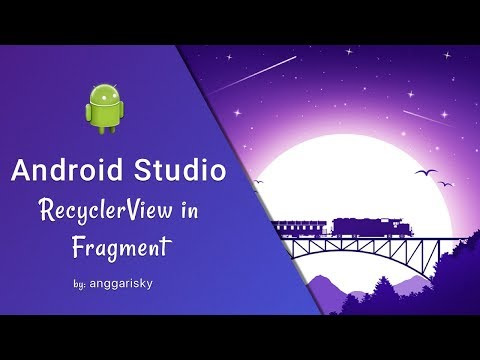 RecyclerView in Fragment in Android Studio Tutorial
