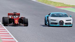 Ferrari F1 2019 vs Bugatti Chiron  Spanish Grand Prix
