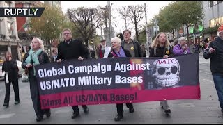 'Close All US/NATO Bases!' Protesters rally in Dublin