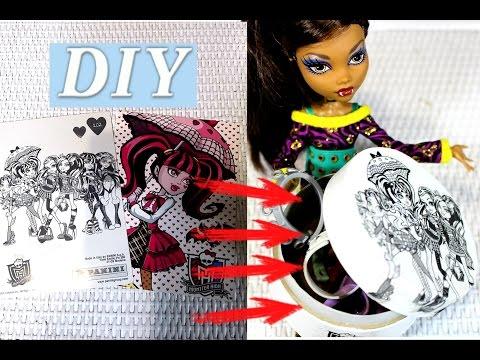 DIY Как перенести изображение с бумаги на любую поверхность. Декупаж в стиле куклы Монстер Хай