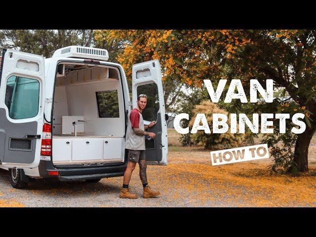 HOW TO BUILD LIGHTWEIGHT CABINETRY IN A VAN | Ep 7 Sprinter Van Conversion